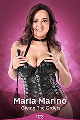 Slender Brunette Model Maria Marino Naked Strip