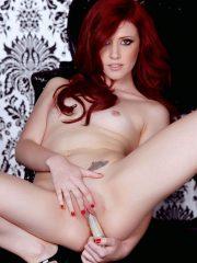 Natural redhead Elle Alexandra getting masturbating her horny pussy
