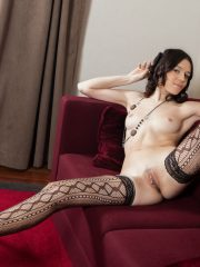 Carmen C long legged sexy nude babe stripping
