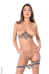 Tattooed Busty Chick Striptease On Stage Watch Liya Silver