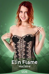 Redhead Cutie Total Striptease Watch Elin Flame